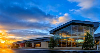 Exterior of San Luis Obispo County Regional Airport.