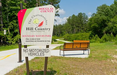 Entrance to Chattahoochee Hill Country Trail.