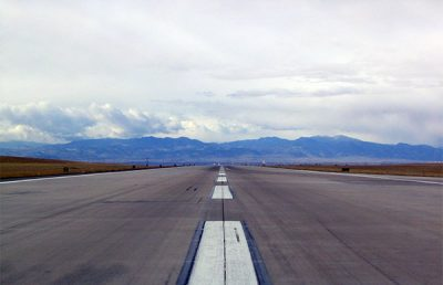 Runway at Denver International Airport.