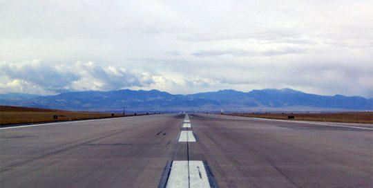 Runway at Denver International Airport.
