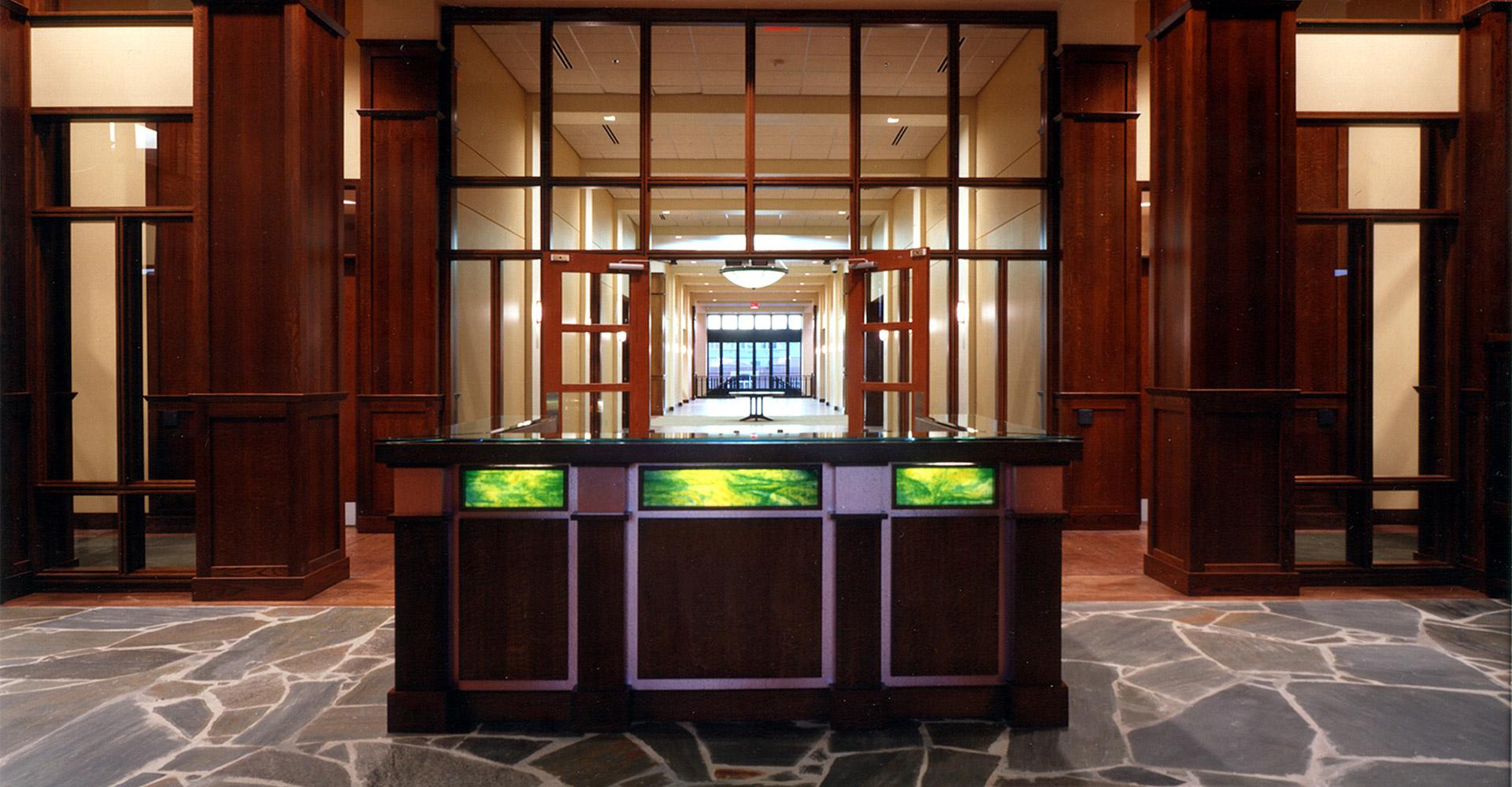 Interior entrance of ADT Denver office.