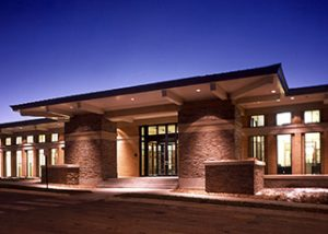 ADT Denver - Entrance at night.