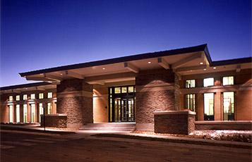 ADT Denver - Entrance at night.