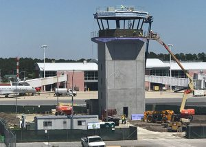 Air traffic control tower.
