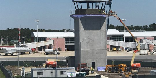 Air traffic control tower.