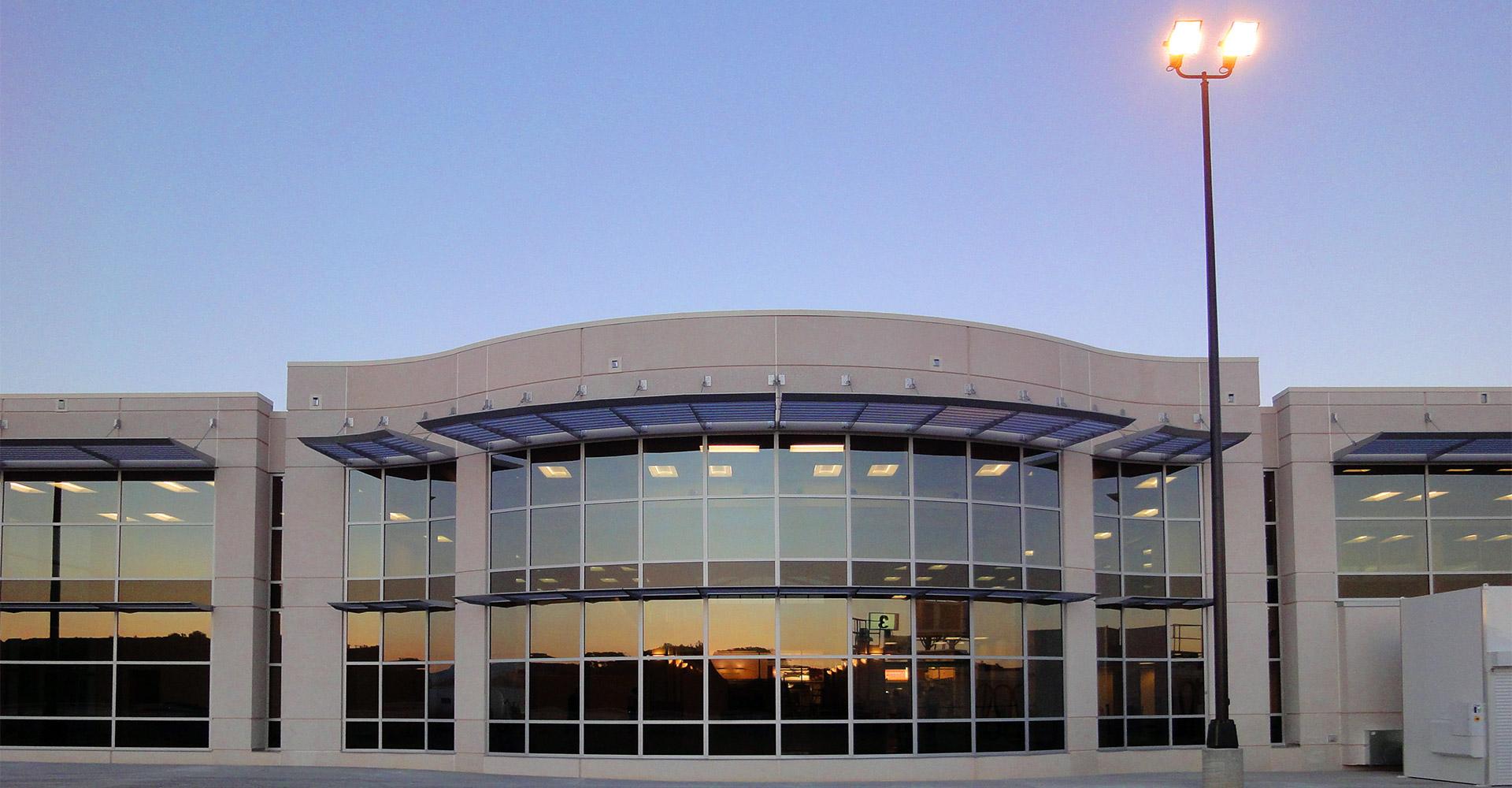 Exterior of Asheville International Airport.
