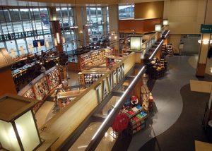 Interior of Asheville International Airport.