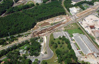 Aerial photo of the Better Jacksonville Plan.