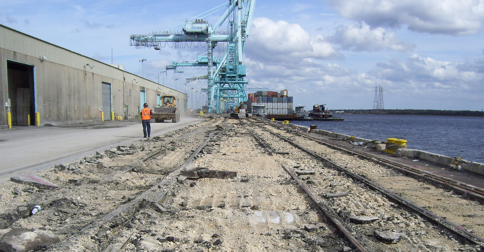 Construction at Blount Island Marine Terminal.