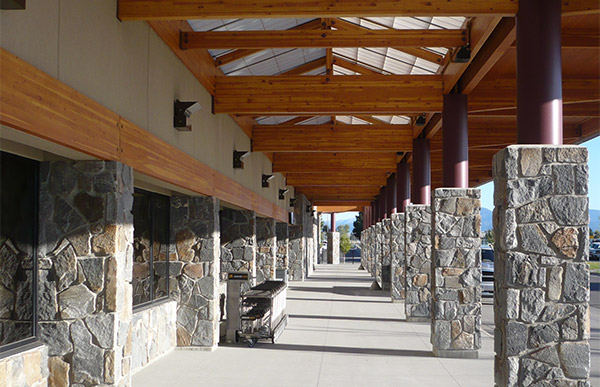Exterior of Bozeman Yellowstone Airport.