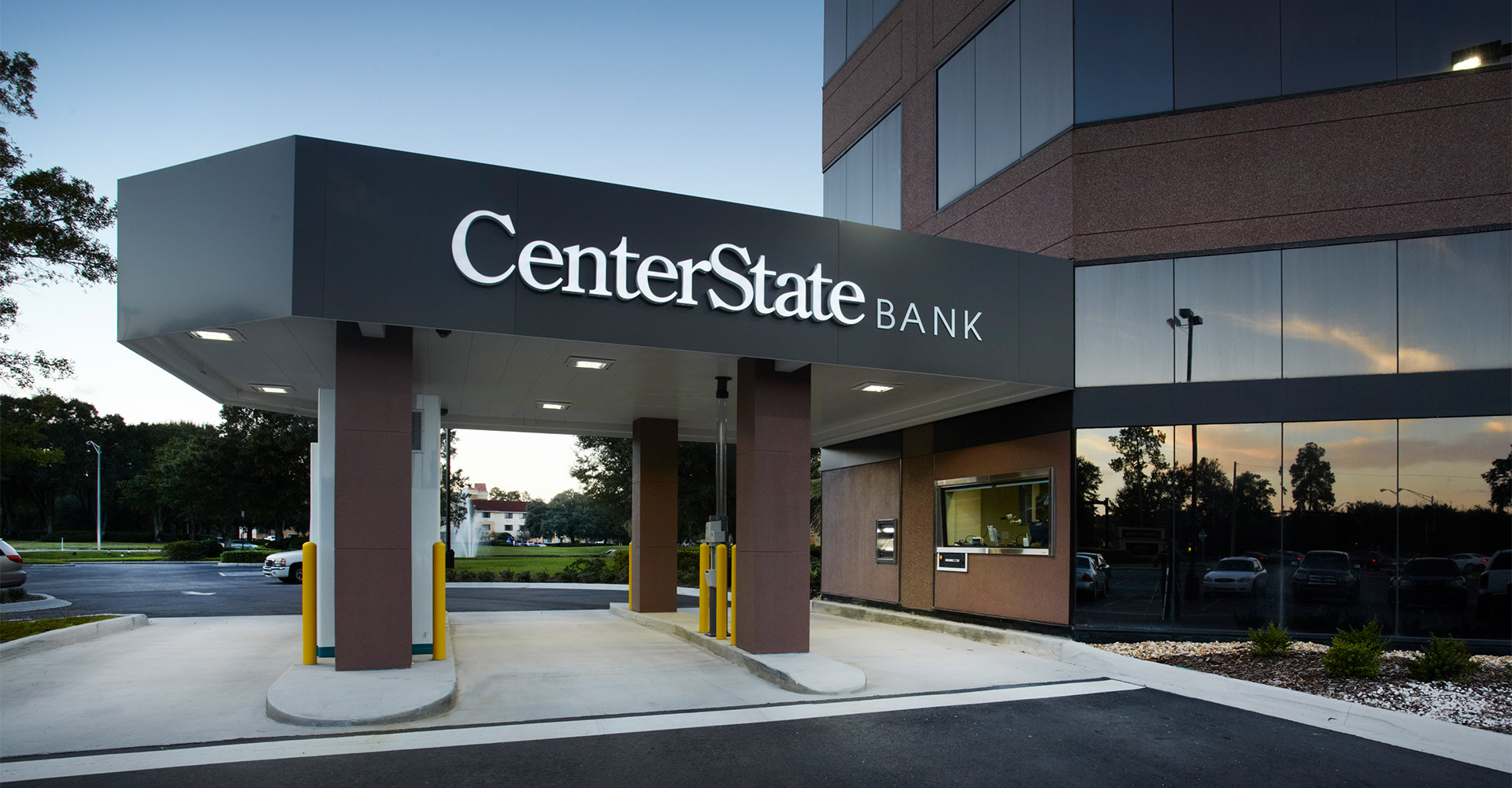 Exterior of CenterState Bank.