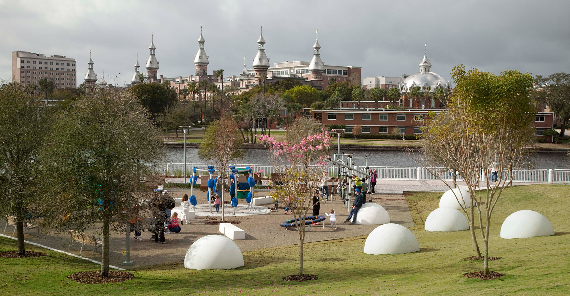 Playground area at Curtis Hixon Waterfront Park.