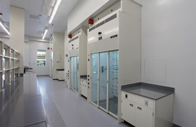 Interior of chemical lab.