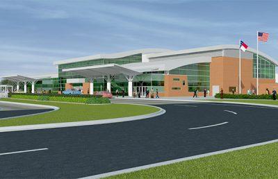 Rendering of Albert J Ellis International Airport.