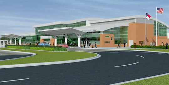 Rendering of Albert J Ellis International Airport.
