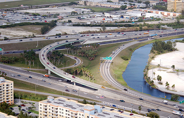 Aerial of Dolphin Expressway.