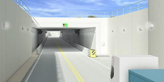 Rendering of Tampa International Airport cargo tunnel.