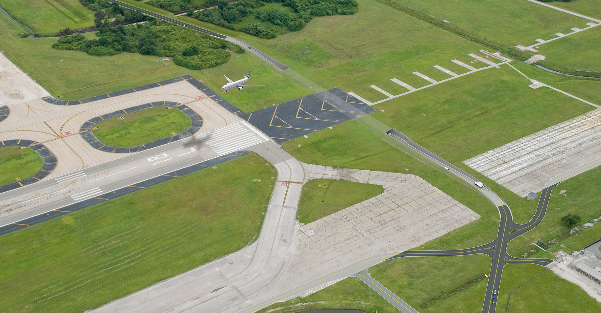 Rendering of Tampa International Airport runway.