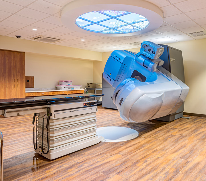 View of equipment at Texas Oncology HEB Cancer Center.