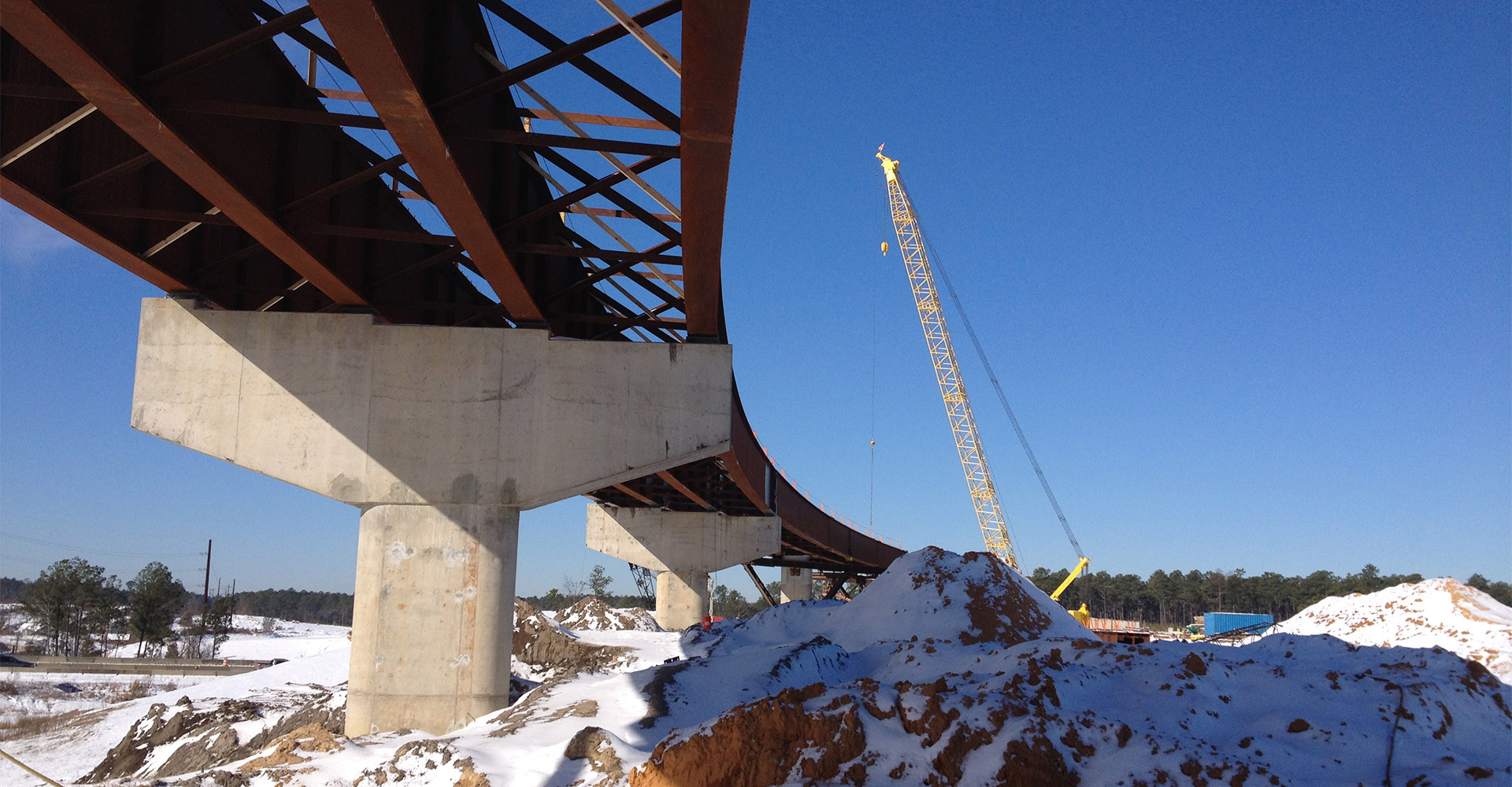 Construction of Fayetteville Outer Loop Project.