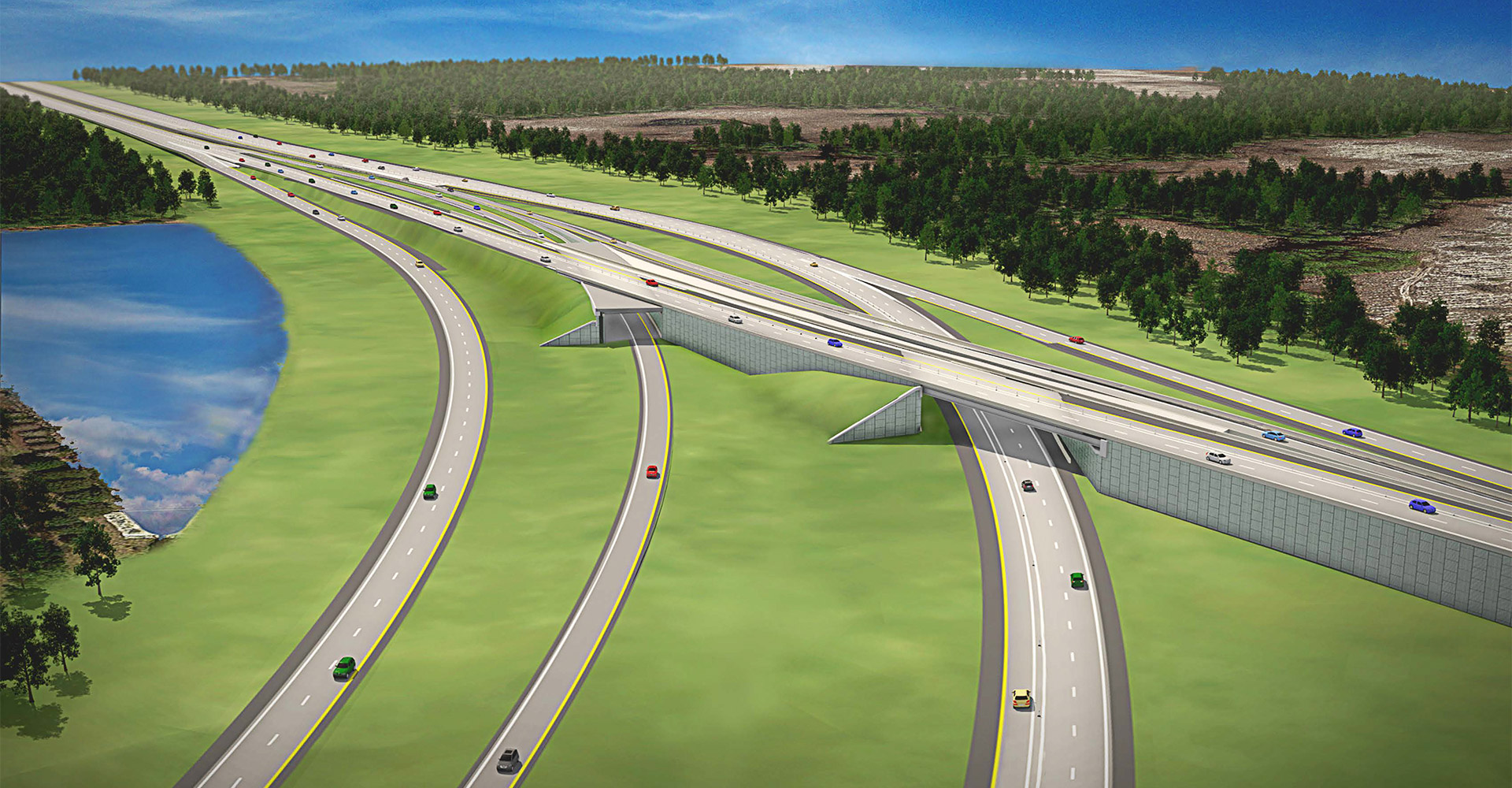 Rendering of the I-295 Express Lanes.