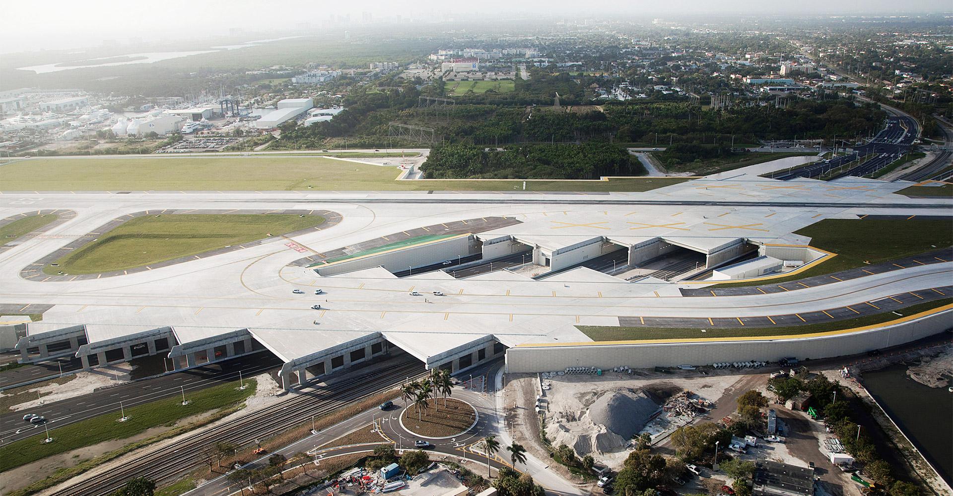 Runway at Fort Lauderdale International Airport.