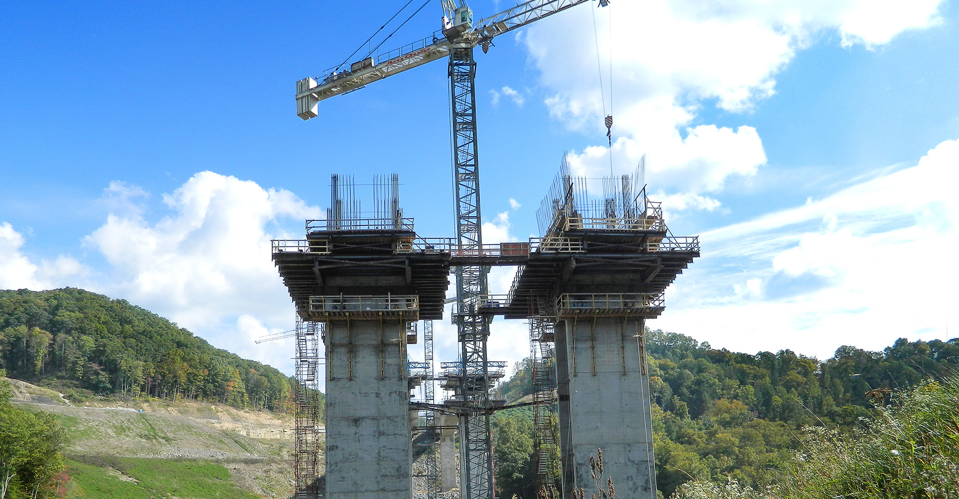 Bridge under construction.