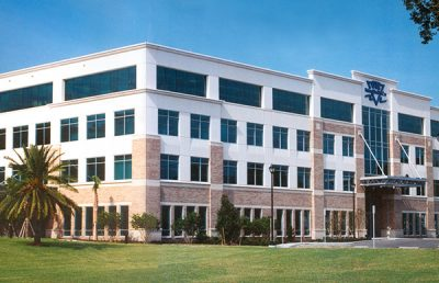 Exterior of GTE Corporate Headquarters.
