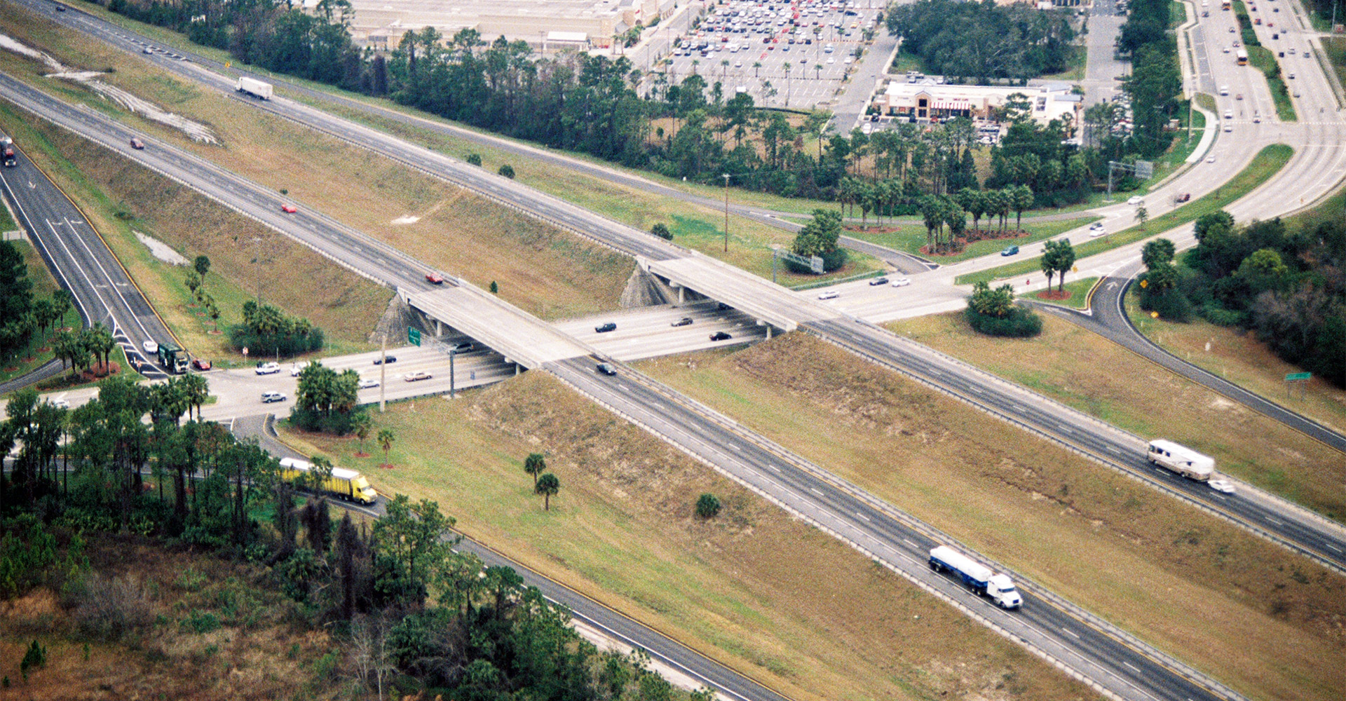 Arial view of I-95.