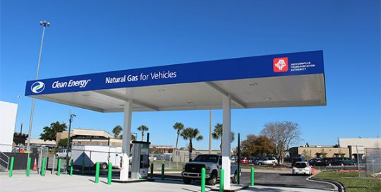 Clean fuels gas pump for vehicles.