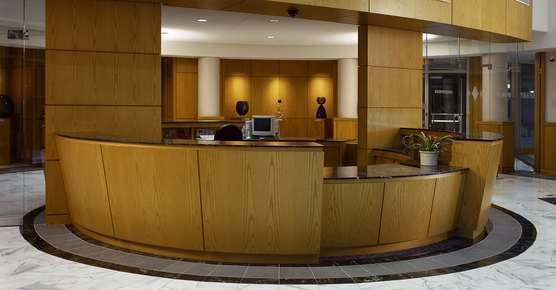 Raymond James Tower IV Lobby Desk.