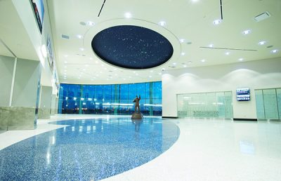 Rick Husband International Airport Lobby with Skylight.
