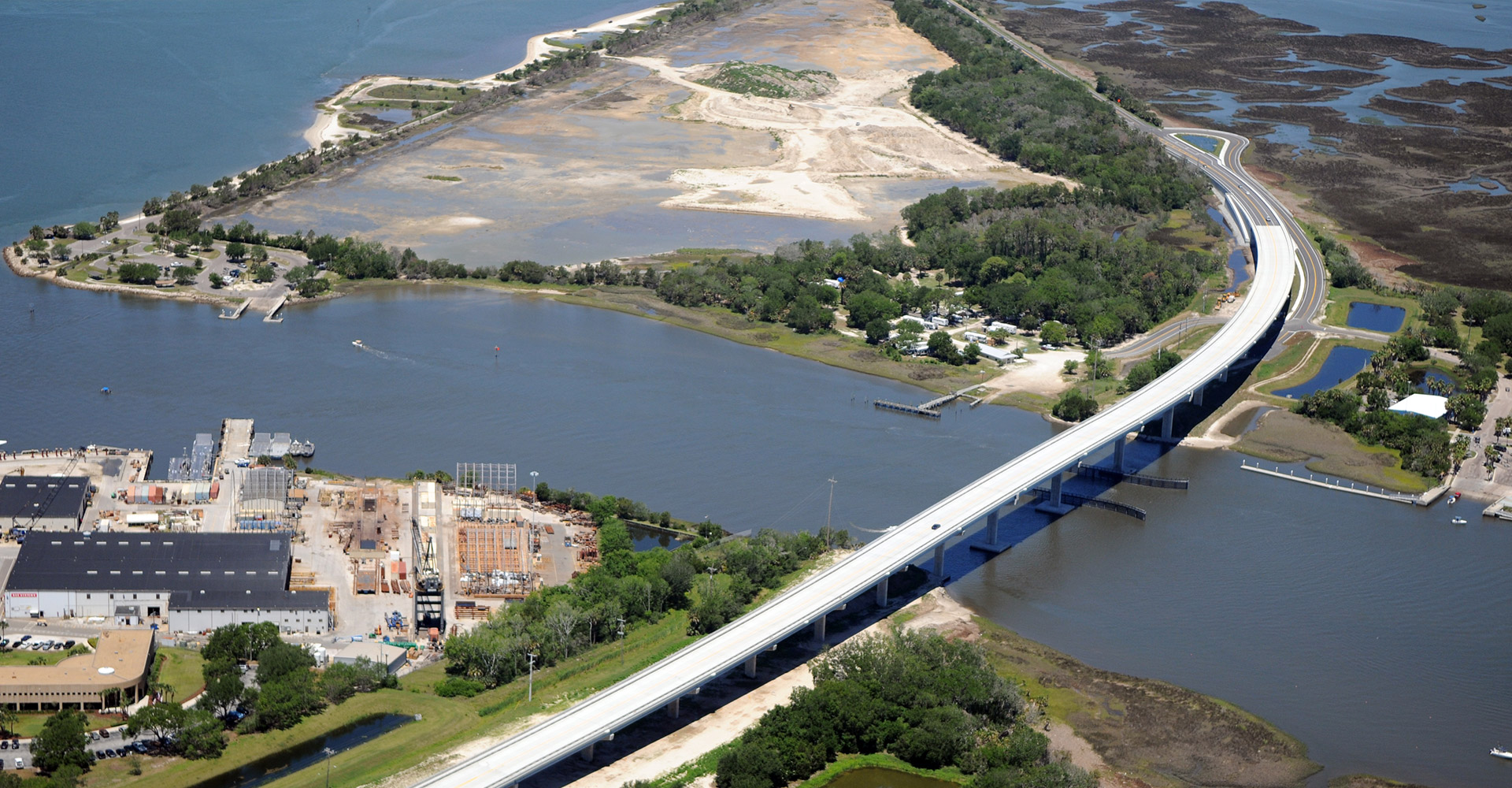 SR 105 Bridge Replacement from Above.