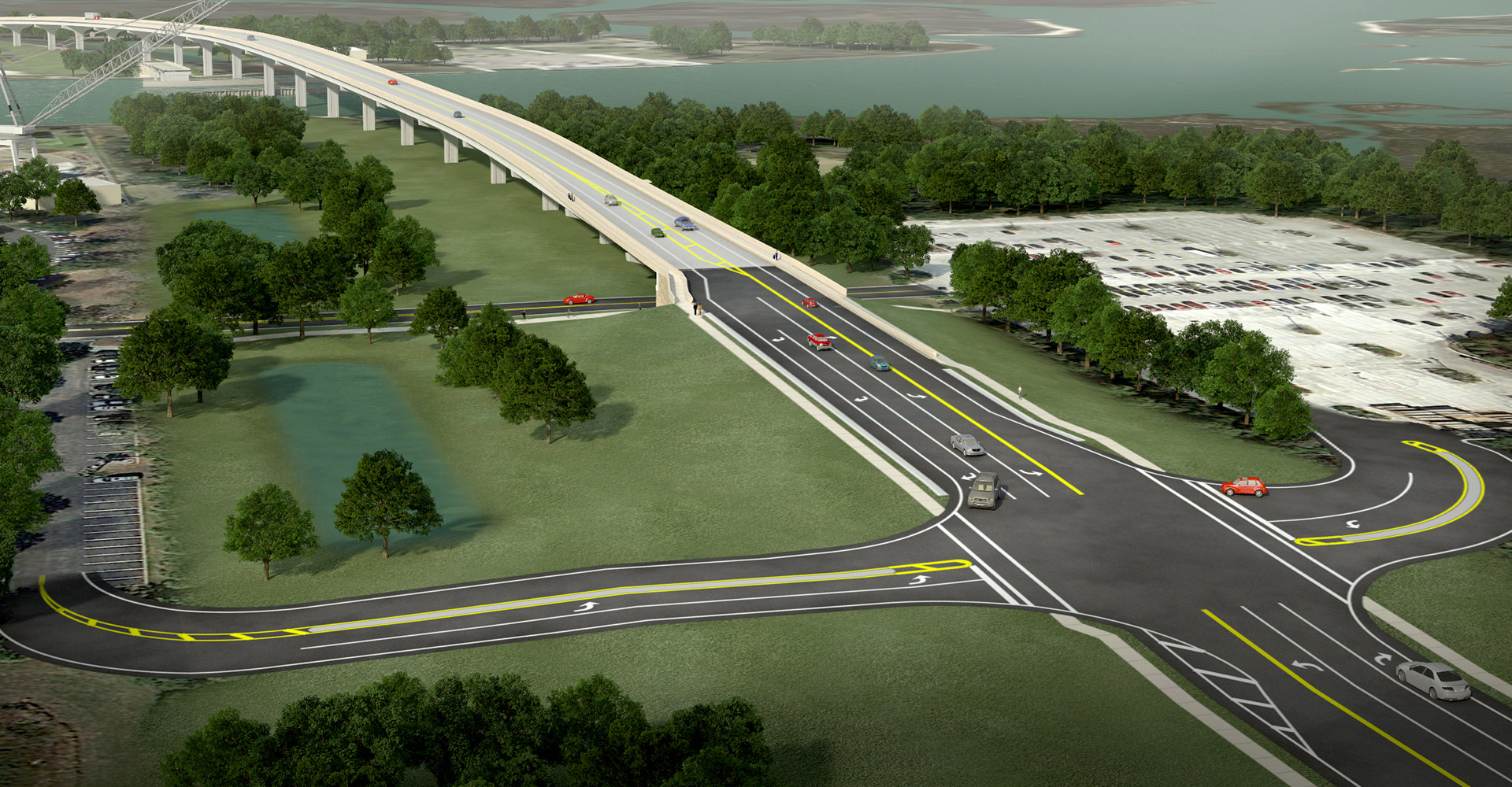 SR 105 Bridge Replacement rendering.