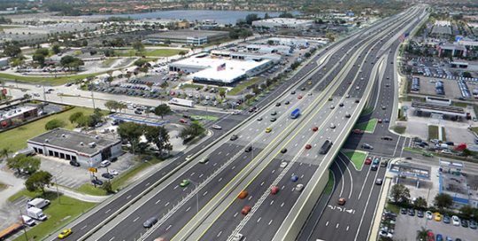 SR 826 Palmetto Study Aerial Rendering.