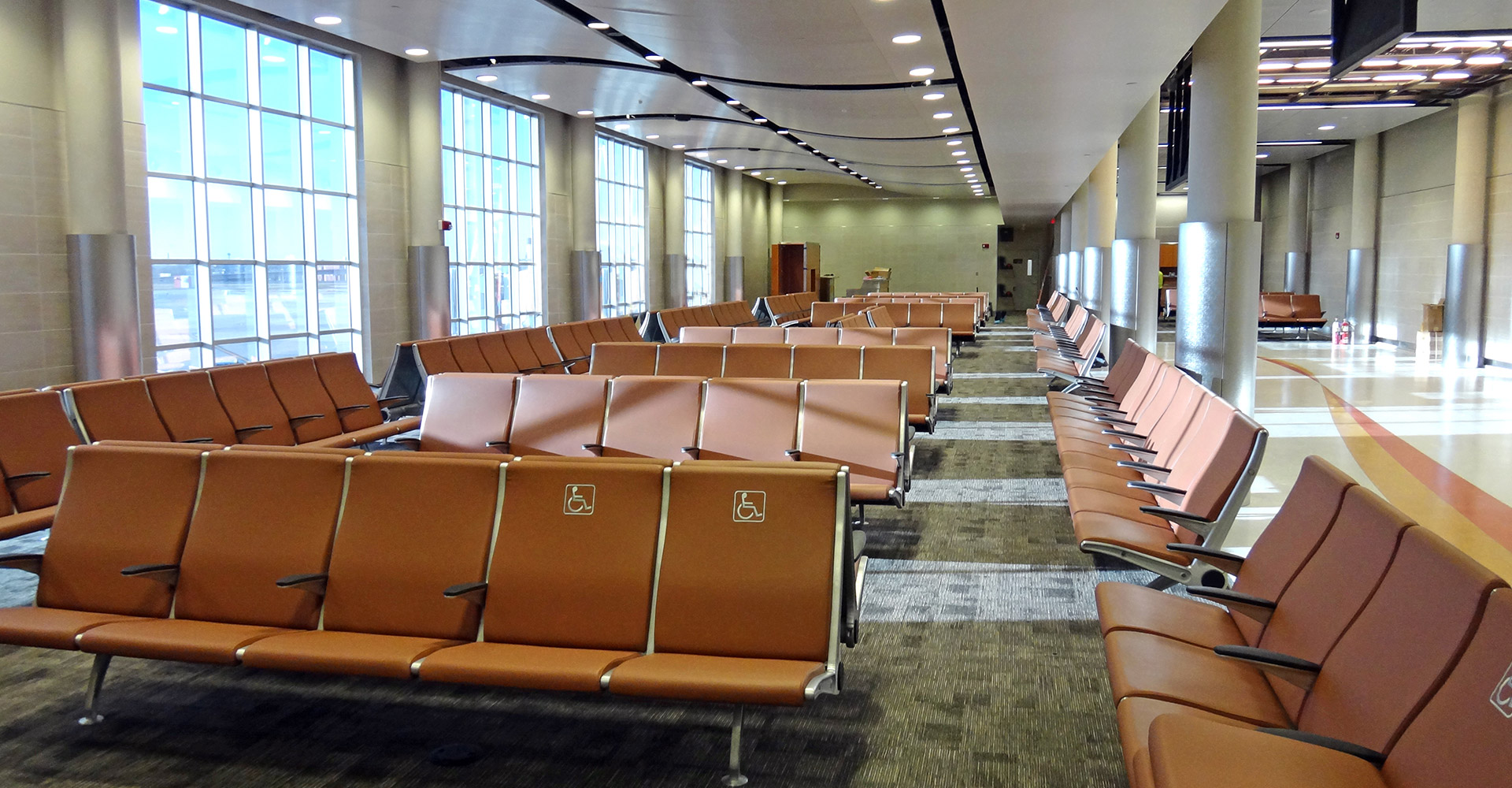San Antonio International Airport Interior Seating.