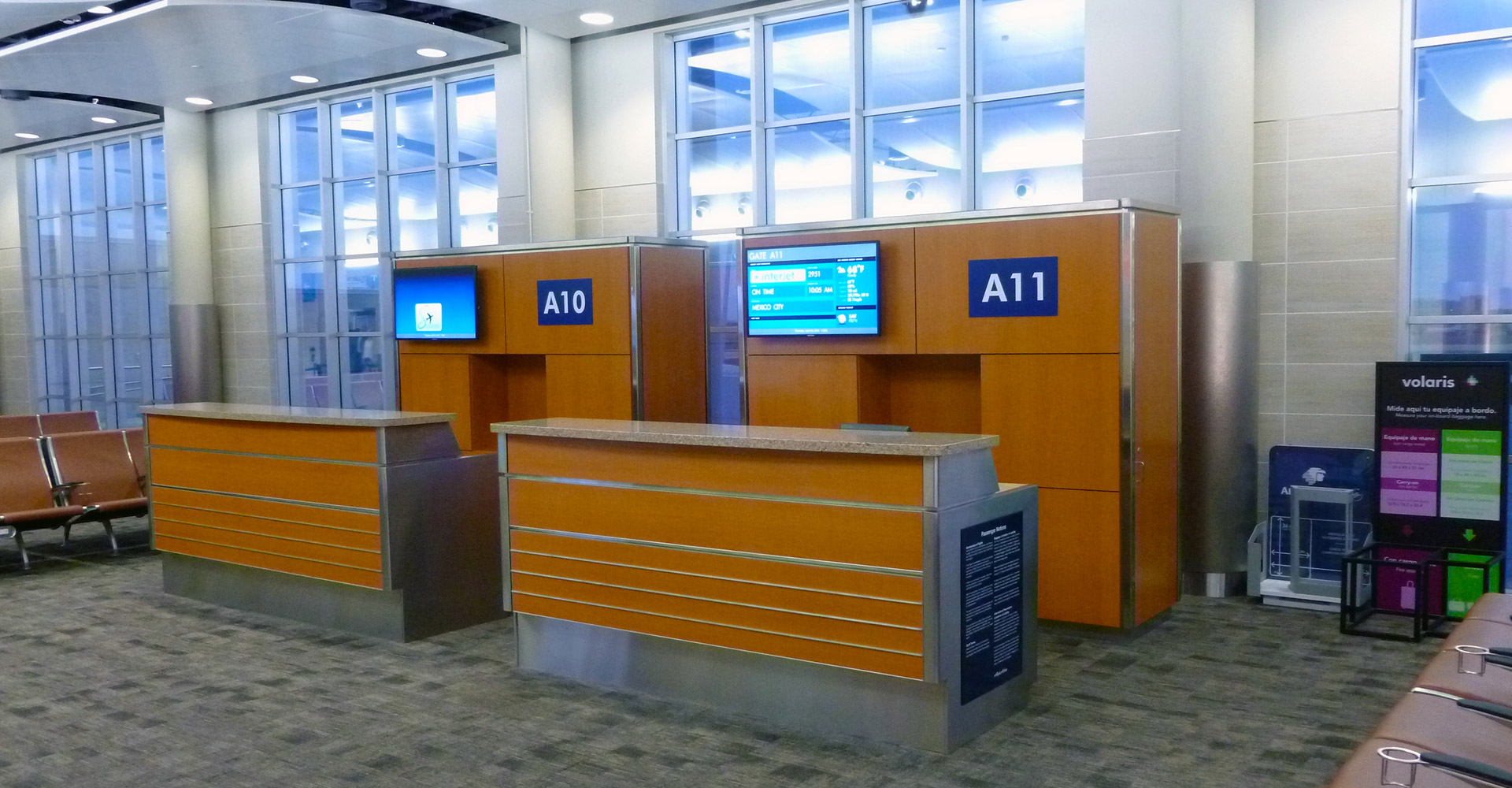 San Antonio International Airport Interior Ticket Counters.