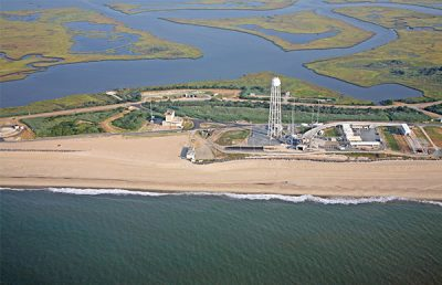 Mid Atlantic Spaceport Aerial.