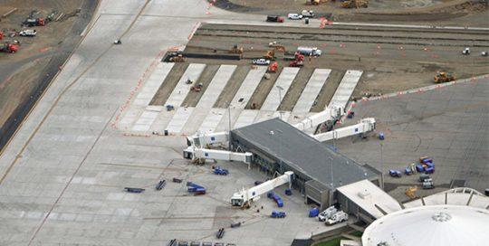 Aerial of Spokane airfield.