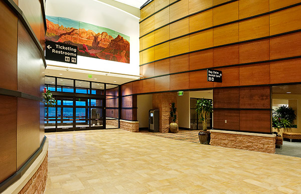St. George Municipal Airport Interior Entrance.