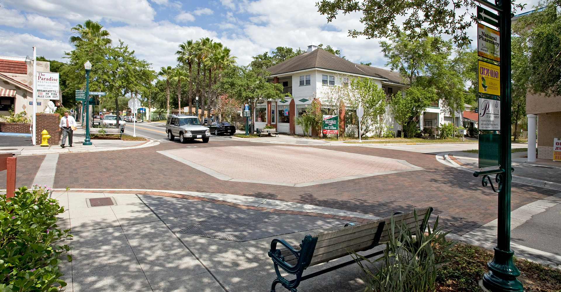 Streetscape Design Safety Harbor intersection.
