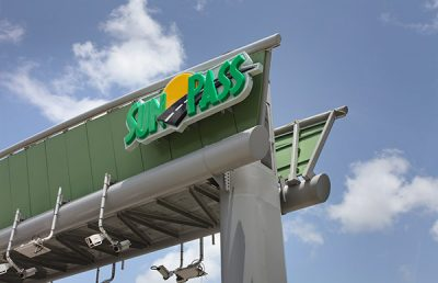 SunPass Challenge Seminole sign closeup.