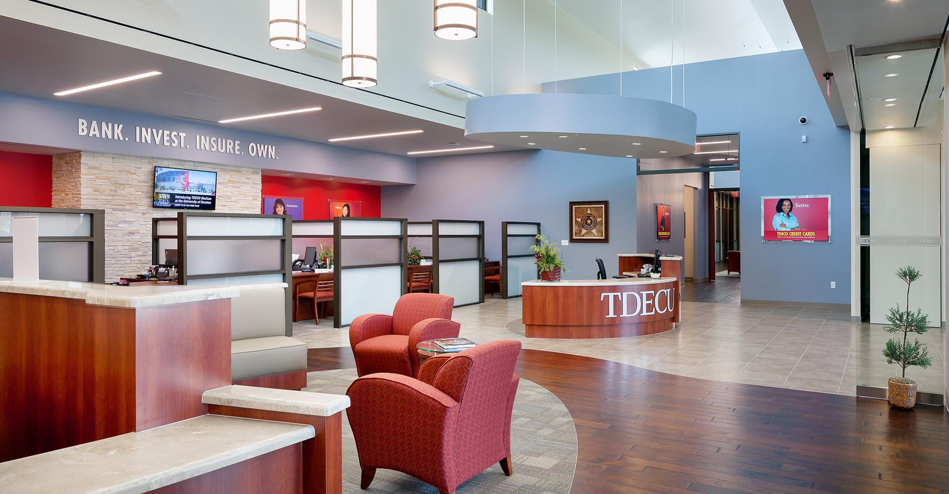 TDECU Retail Center Lobby.