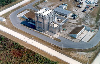 Aerial view of Centaur Cryogenic Tank facility.