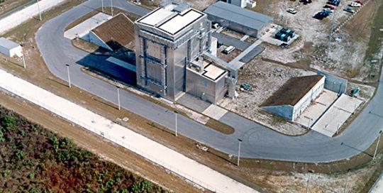 Aerial view of Centaur Cryogenic Tank facility.