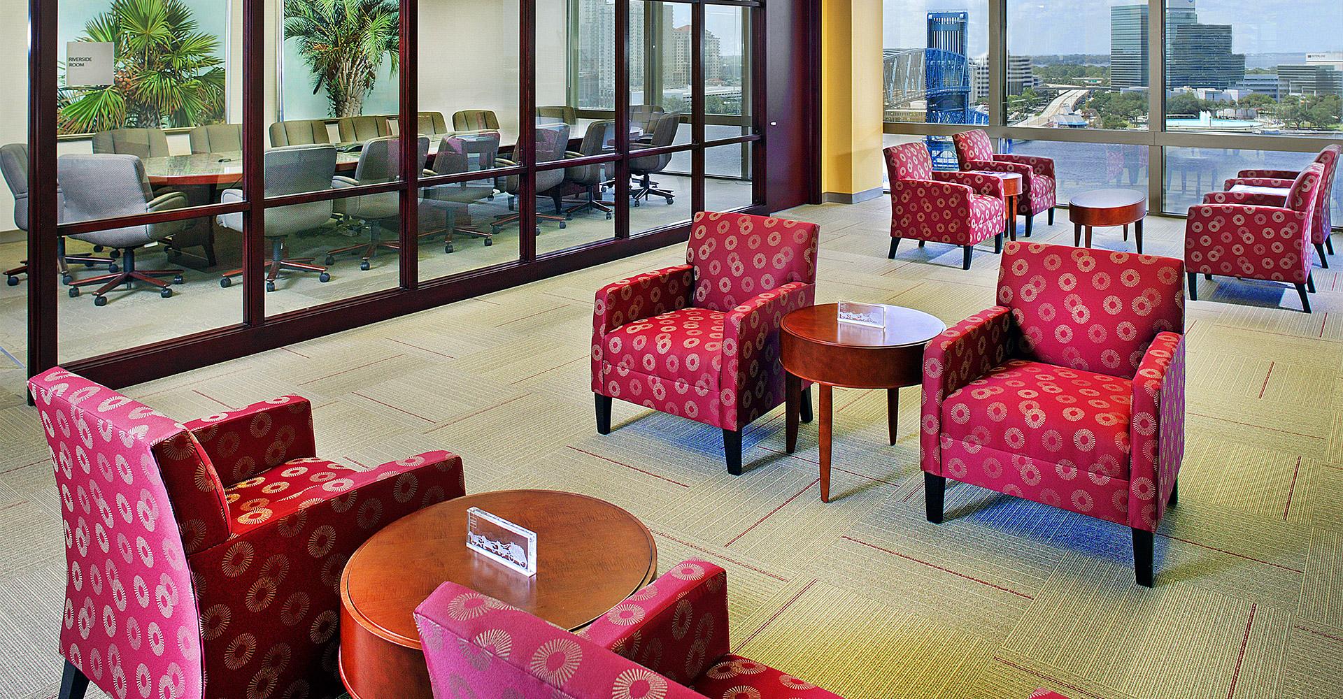 Wells Fargo lobby.