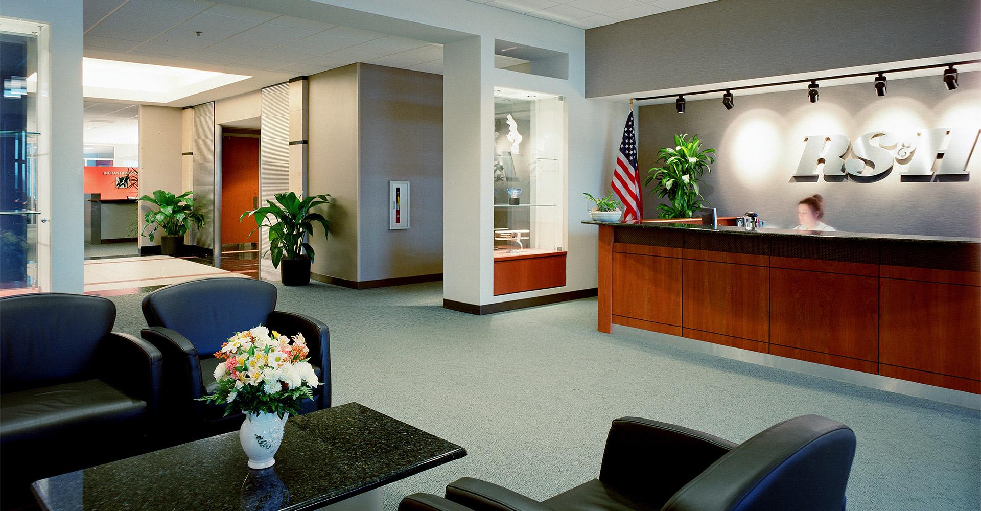 Waterview Office Development Reception.