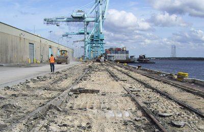 Construction at Blount Island Marine Terminal.
