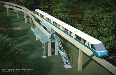 Rendering of the Disney Monorail.