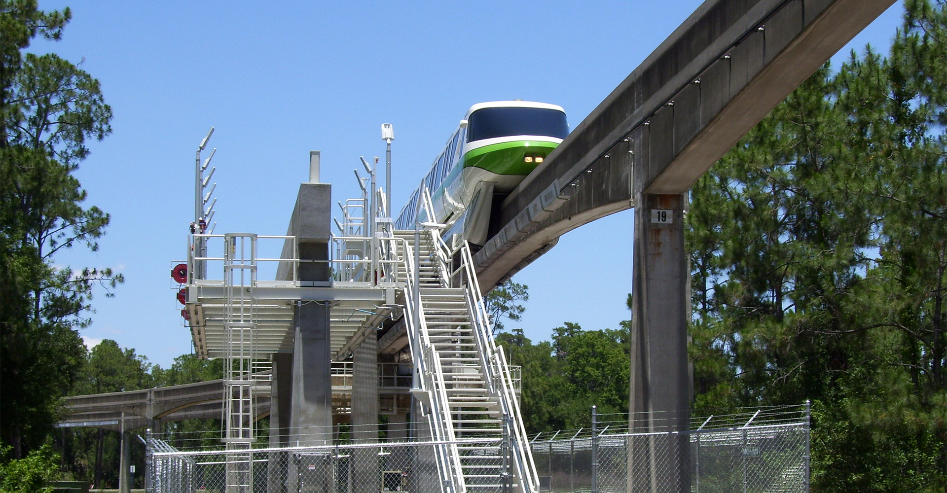 View of the Disney Monorail.